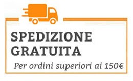 Spedizione gratuita sopra i 150€